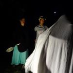 La châtelaine, Sam et le fantôme Nick juste avant l'accomplissement de la prophétie